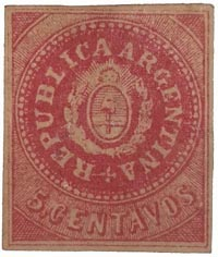 Argentina first issue 5c