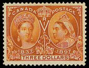 Canada SG138 Three Dollar Jubilee issue