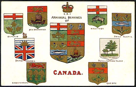Armorial Bearings of Canada - Rafphael Tuck 1908