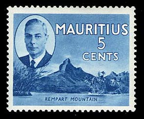 Mauritius 1950 5c pictorial definitive Rempart Mountain
