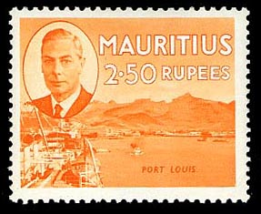 Mauritius 1950 pictorial definitive 2r 50c Port Louis