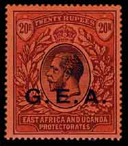 German East Africa 20R stamp