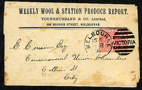Weekly Wool & Station Produce Report newspaper wrapper