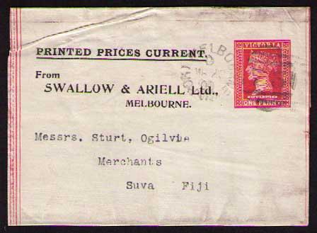 Swallow & Ariell ptpo newspaper wrapper