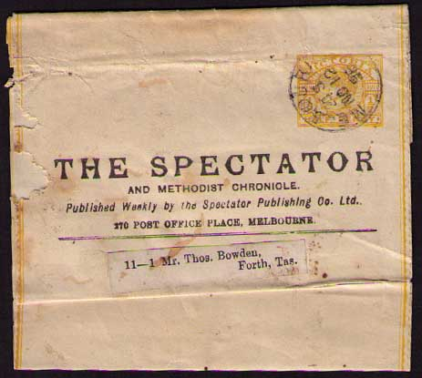 The Spectator 1896 ptpo newspaper wrapper