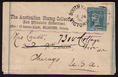 The Austral Stamp Collector newspaper wrapper 1895
