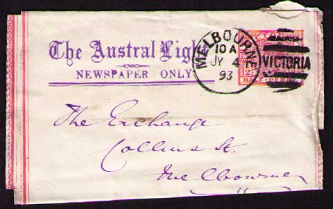 The Austral Light newspaper wrapper