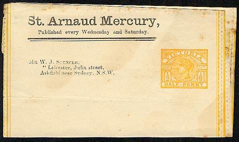 St Arnaud Mercury ptpo newspaper wrapper