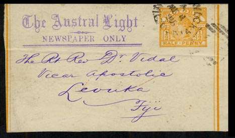 Austral Light 1896 ½d orange