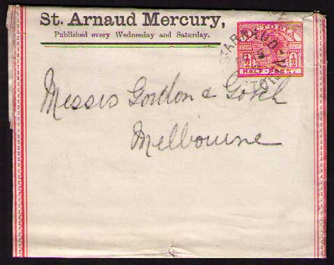 St Arnaud Mercury 1893 ptpo newspaper wrapper
