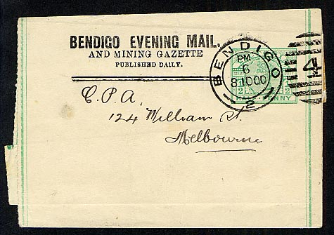 Bendigo Evening Mail Newspaper Wrapper