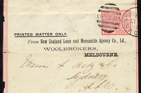 New Zealand Loan and Mercantile Co 1891